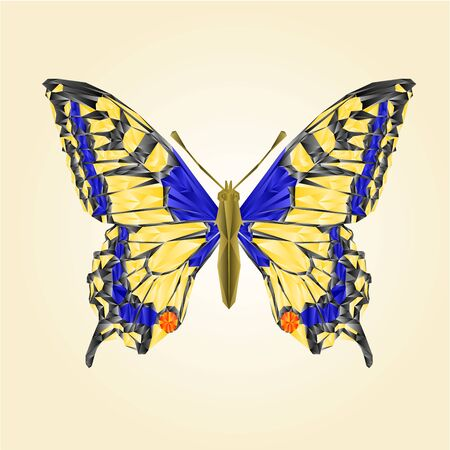 swallowtail: Butterfly swallowtail insect polygons  illustration Illustration