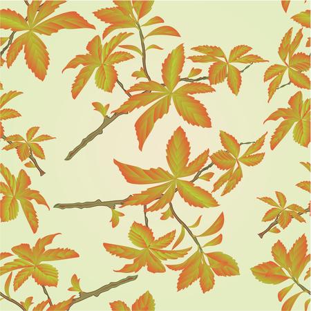 shrub: Seamless texture twig decorative shrub colorful leaves illustration Illustration