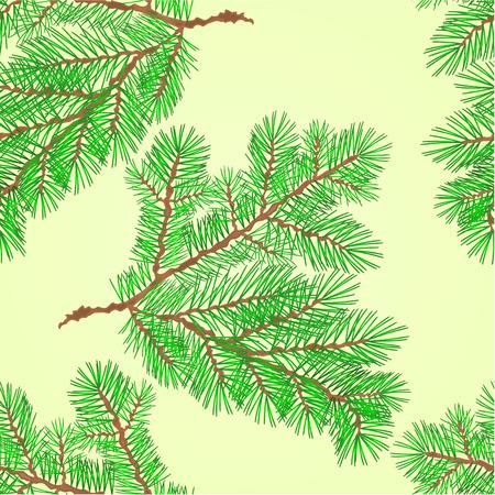 spruce: Seamless texture Conifer Spruce branch  nature green background illustration Illustration