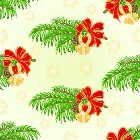 seamless clover: Seamless texture Merry Christmas decoration lucky symbols Four Leaf Clover horseshoe pig illustration