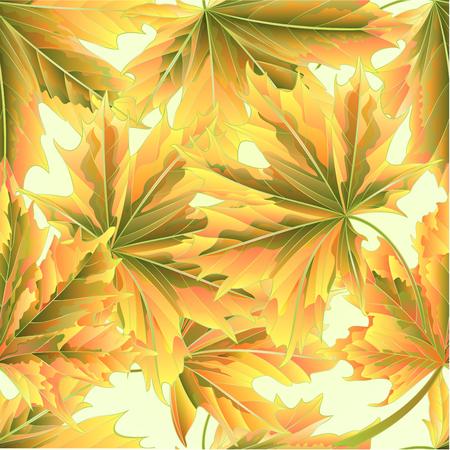 Seamless texture Autumn maple leaves natural background vintage vector illustration editable hand draw Иллюстрация