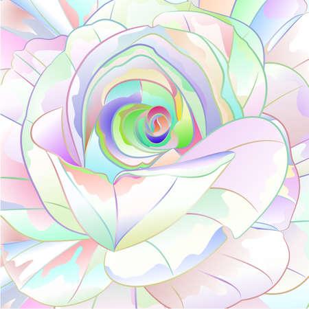 Rose multicolored   watercolor   background vintage vector botanical illustration editable hand draw nature Иллюстрация