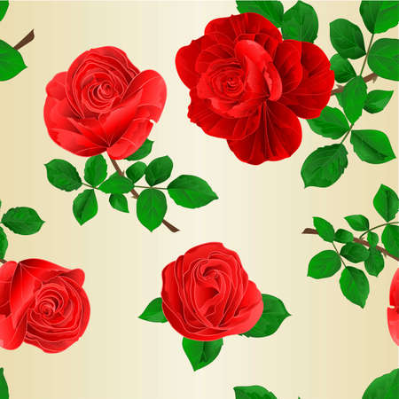 Seamless texture buds pink roses with  leaves watercolor vintage  festive background   vector illustration editable hand draw