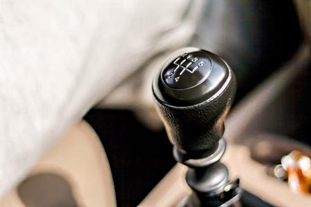 palanca: velocidad en el coche primer plano de la palanca