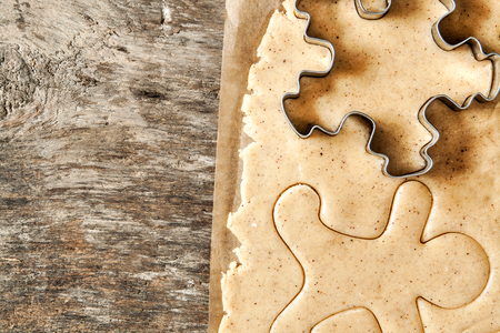 roll out: Roll out the dough cut out Christmas shapes instagram style.