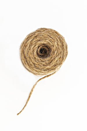 brown twine isolated on a roll.