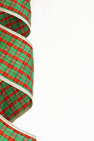 packing tape: Green decorative packing tape isolated in a cage. Stock Photo