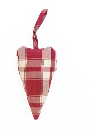 textiles heart in the style shabby isolated.