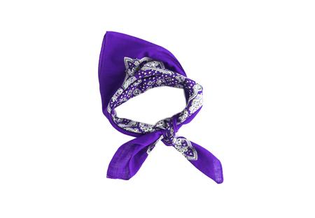 lilac, violet, purple, manzhenta scarf, bandanna, pattern, isolated.