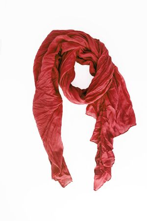 colored patterned scarf, neckerchief isolated on white background. Banco de Imagens