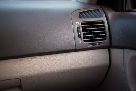 Car air conditioner in the front interior passenger for adjust airflow, selective focus, Automotive part concept.
