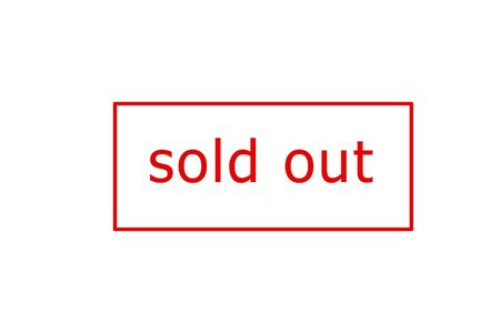Sold out red stamp on a white background.