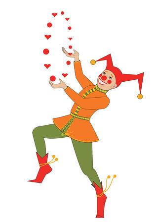 Buffoon juggles con corazones