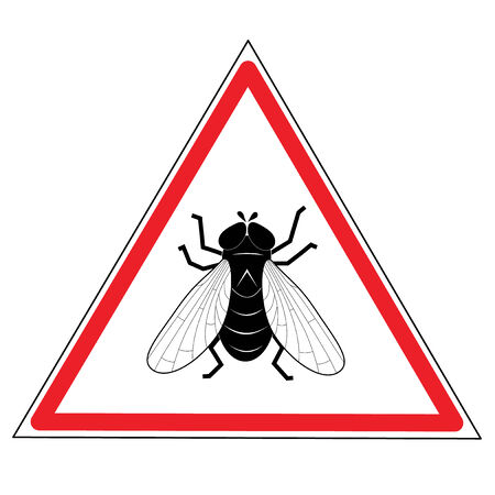 Fly on a road sign Stock Vector - 2404552