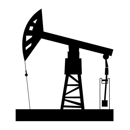 yacimiento petrolero: Ilustraci�n de la torre de perforaci�n de petr�leo