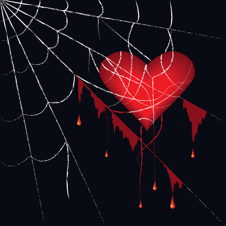 suffer: the heart has got tangled in the spiderweb
