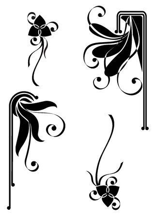 floral pattern for decorative design of corners