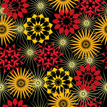 seamless floral pattern with stylized flowers Stock Vector - 3564286