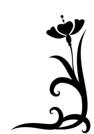 stylized illustration of the flowers for corner design