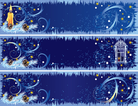 set of the Christmas banners Stock Vector - 3694481
