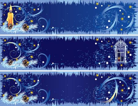 set of the Christmas banners