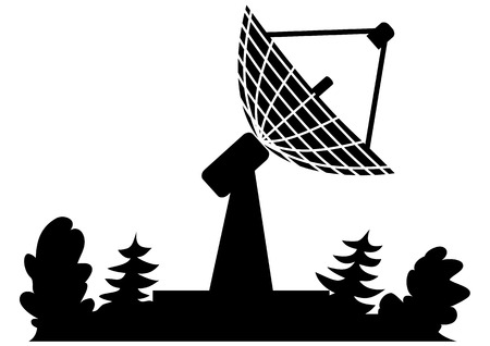 illustration of the radar in black color Stock Vector - 3694480