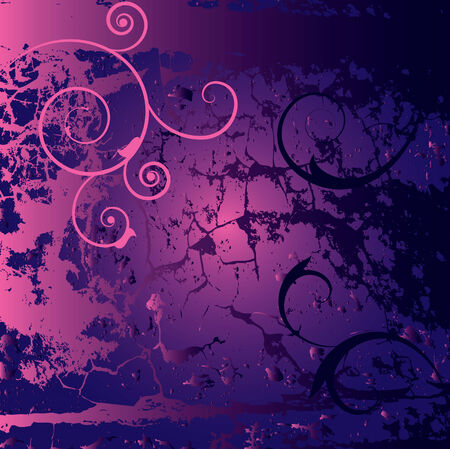 emo: grunge background in blue and pink colors Illustration