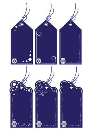 set of the price tags Vector