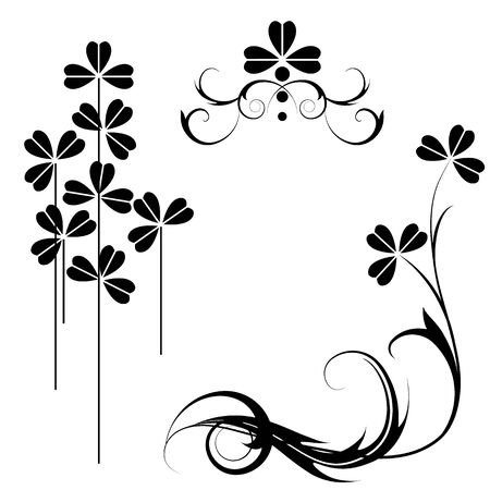 set of the floral design Vector