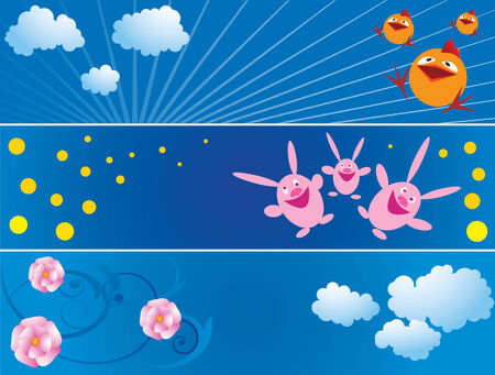 set of the Easter's banners Stock Vector - 4224615