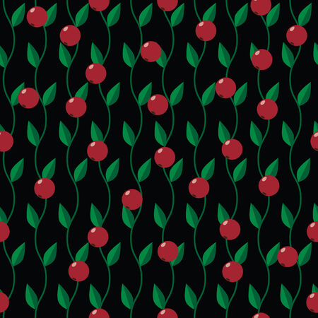 bog: seamless pattern with cranberry