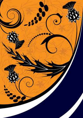 thistle: floral background with thistle Illustration