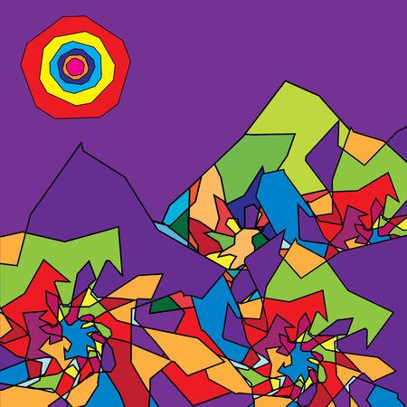 mountainous: abstract illustration of the mountainous  landscape