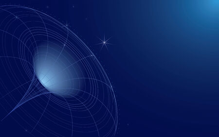 wide-screen abstract illustration of space Vector