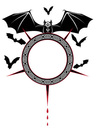 samhain: Halloween ilustraci�n de los murci�lagos