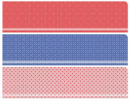 calico: set of the halftone banners