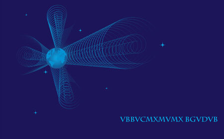 wide-screen abstract illustration of Earth in space Vector