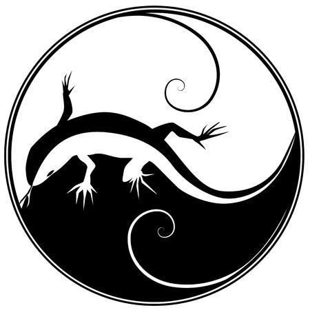 sauri: illustrazione vettoriale astratto di una lucertola