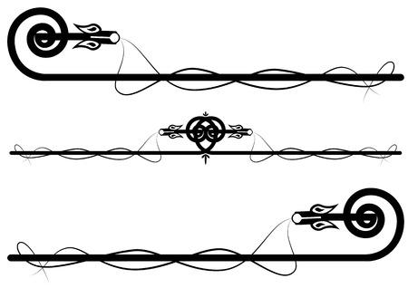 interweaving: set dei draghi celtico astratti in nero