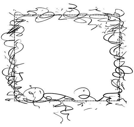 negligent: illustration of the abstract frame Illustration