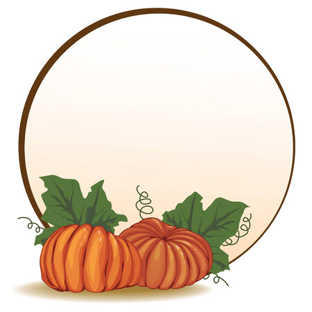 husbandry: autumnal banner with pumpkins Illustration