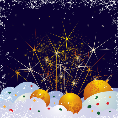 snowdrift: Christmas vector background with sparkles of firework