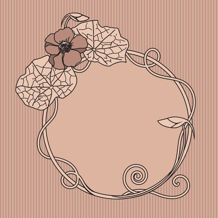 art nouveau floral frame with nasturtium Stock Vector - 8424915