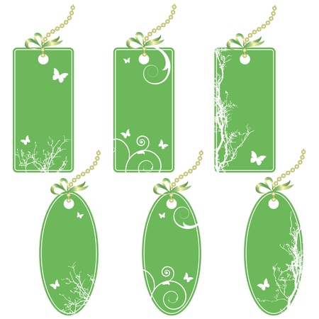 set of the price tags in green colors Stock Vector - 8775233