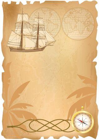 Wektor tła z morzem podróży elementów (EPS 10)