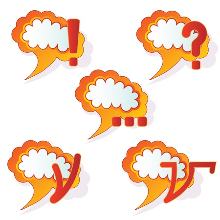 set of the abstract speech bubbles vectors Vector