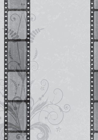 vector film strip background in grayscale colors (EPS 10)