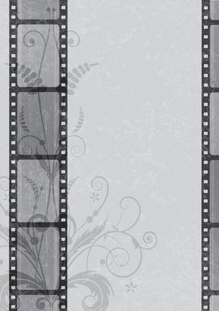 vector de fondo de tira de película en colores de escala de grises (EPS 10)