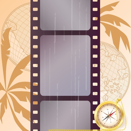 travel vector film strip background (EPS 10) Vector