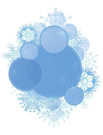 vector Christmas background with snowflakes (EPS 10)